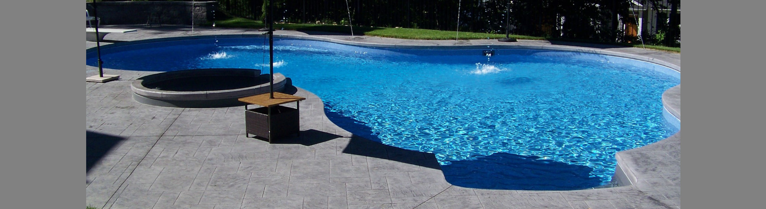 In ground pools above ground pools spas and hot tubs for Above ground pool decks with hot tub